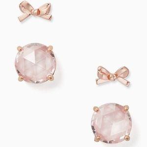 Kate Spade Gumdrops & Bows Earrings Set! NWT
